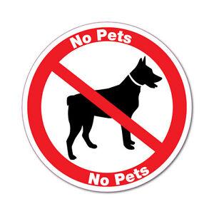 No  Pets Dog Sign Shops Restaurants Sticker Decal Safety Sign Car Vinyl #6813EN