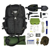 Bug Out Bag Kit - Survival Backpack + Bladder, Survival Gear & Emergency Tools