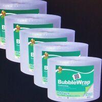 5 x Bulk Duck Original 3/16 inch Bubble Wrap Cushioning 12in x 150ft Clear