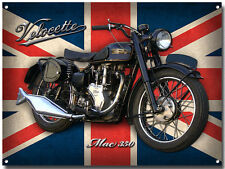 LARGE A3 SIZE VELOCETTE MAC 350 MOTORCYCLE ENAMELLED METAL SIGN.VINTAGE.