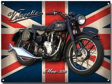 Groß A3 Größe Velocette Mac 350 Motorrad Enamelled Metall Schild Vintage