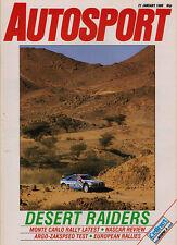 Autosport 21 Jan 1988 -Paris Dakar Rally, Mercedes Return, Piero Taruffi, Healey