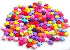 50 Mezclados Abalorios Estrella Hermosa + Envío Gratuito Rápido 9 mm
