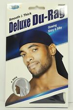 Smooth Thick / Shiny & Silky Deluxe Du Rag Durag Black White Blue Brown Red KT17