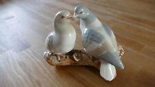 Porzellanfigur Zwei Tauben auf Ast Handarbeit Spanien