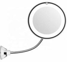 Kosmetikspiegel LED 10-fach Vergrößerung Saugnapf Schminkspiegel 360° Schwenkbar
