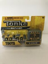 New In Package Tonka Tinys 3 Pack Construction Equipment W/Mystery Vehicle