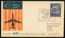 Mayfairstamps Austria Flight 1959 Sas Caravelle Jet Wien Cover wwh_91111