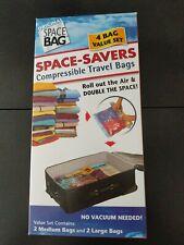 New Original Space Bag Vacuum Seal Travel Roll up bags, set of 4 USA shipper