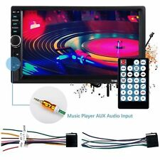 """Double Din Touch Screen Car Stereo 7"""" HD MP5 MP3 Player In-dash Bluetooth Radio"""
