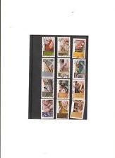 serie sur les metiers d art  obliterés autoadhesifs  de 1070 a 1081