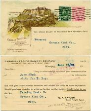 More details for canada 1917 illust.postal stationery hotel card canadian pacific railway perfin