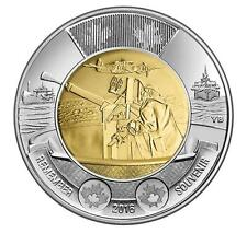 CANADA UNC 2016 $2 TOONIE - 75TH ANNIVERSARY OF THE BATTLE OF THE ATLANTIC