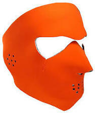 Biker Mask Hunter Orange Reversible Black Neoprene Full Face Mask