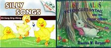 Silly Songs Sing Along by Twin Sisters (CD) & Peter Cottontail A.H.F.F. (CD)