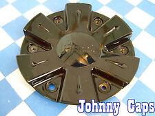 Fierro Wheels Black Custom Wheel Center Caps #6128-1-Cap.  Cap (1)