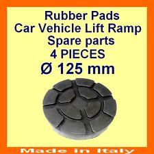 Set de 4 pads Ravaglioli 2 poste voiture ascenseur rampe de levage coussinets en caoutchouc -125 mm-Made in Italy -