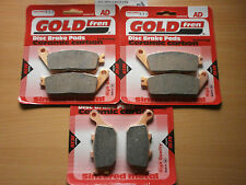 FULL SET SINTERED BRAKE PADS (3x Sets) For: HONDA CBR 600 FS 1995 CBR600 CBR600F