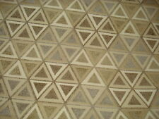 Octagonal Contempary Soft Chenille Taupe Grey Tan And Ivory Upholstery Fabric
