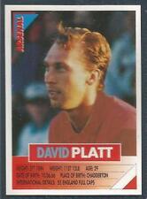 PANINI SUPERPLAYERS 1996 #013-ARSENAL & ENGLAND-DAVID PLATT