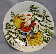 Williams-Sonoma Set/4 Santa Vintage Holiday Plates