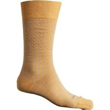 Pantherella Houndstooth lll Merino Wool Men Crew Socks Gold - Made in the UK
