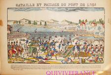 EP14 - BATAILLE ET PASSAGE DU PONT DE LODI - IMAGE D'EPINAL PELLERIN - NAPOLEON