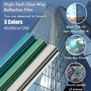Mirror Window Film - One Way Reflective UV Vision Privacy Solar Glass Tint