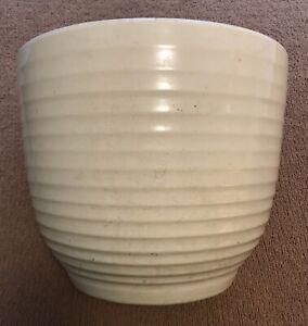"""Vintage Large 10 Bauer Pottery Ringware White Planter Vase Pot 12.75""""W x 10.75""""T"""