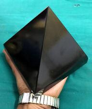 "Large 5"" Natural Black Tourmaline Crystal Healing Reiki Aura Stone Egypt Pyramid"