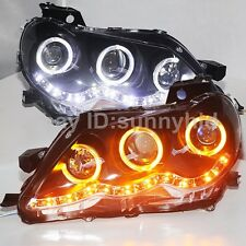 For TY REIZ Mark X LED Headlights Angel Eyes Projector Lens 2005 to 2009 year JC