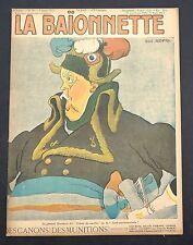 La Baïonnette n°79 du 4 janvier 1917. Des Canons ! Des Munitions ! GUS BOFA
