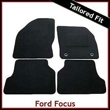 Ford Focus Mk2 2004-2011 Tailored Fitted Carpet Car Floor Mats BLACK