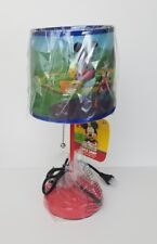 Disney Mickey Mouse Club House Table Lamp Nursery Children's Blue Shade Red Base