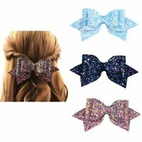 Delicate Sequin Hairpins Girls  Bow-knot Glitter Barrettes  Hair Accessories Hot