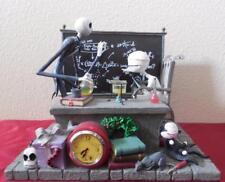 Disney Nightmare before Christmas Jack Skellington desk clock statue Heavy Rare!
