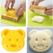 1pcs Cute DIY Bear Sandwich Mold Toast Bread Stamp Mold Cutter Tool KitG OT8G
