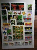 Insekten Schmetterlinge Mariposa Stamps Sellos Briefmarken Timbres