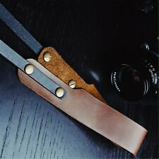 Genuine Leather Sling Shoulder Strap Belt Brown For Camera Leica Fuji Sony Canon
