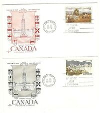 CANADA FIRST DAY COVERS - 1972 - $1 & $2 LANDSCAPE DEFINITIVES