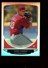 JESSE BIDDLE PHILLIES MINT ROOKIE REFRACTOR MINI RC SP 2013 BOWMAN CHROME #1 GEM