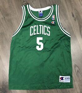 Ron Mercer #5 Boston Celtics Youth XL 18-20 Mens Small Champion Jersey Vtg 90s