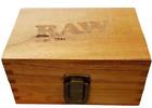 RAW Wooden Box Small Tobacco Cigarette Stash Tin Box