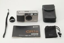 Ricoh GR1s 35mm Film Camera w/28mm Lens Silver,Hood,Case,Manual Japan 241