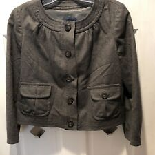 J Crew Wool Jacket Gray Sz 0