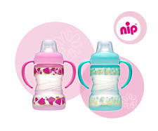 New nip Soft Trainer bottle and cup 6 months plus Made in Germany