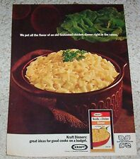 1971 print ad page - Kraft Foods Noodle Chicken Dinner -on a budget- advertising