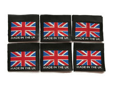"""Union Flag / Union Jack """"Made in the UK"""" 35mm Black Woven Labels Accessories Tag"""