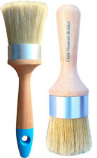 Chalk Paint Furniture Brushes 1 Medium Oval Paint &1 Lg Wax Brush