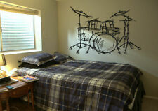 Wall Decal Vinyl Sticker Bedroom drums music melody rock nursery  bo3296